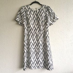 🔅J CREW🔅 A-Line Silk Print Dress